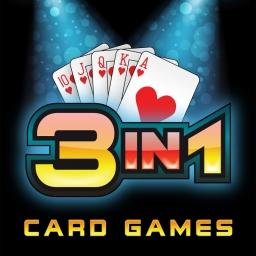 3 in 1 Kartenspiele