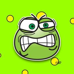 Visage fâché