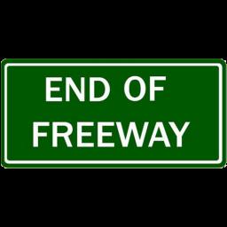 Straßenschild Autobahn