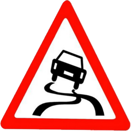 Road Sign Lost Control