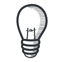 Grey Lightbulb