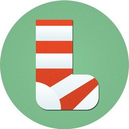 Rot Weiße Socken