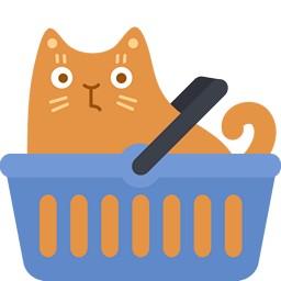 Katze Einkaufskörbchen