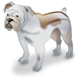 Dog 3D Bulldog