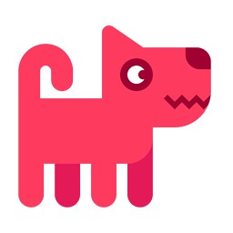 Rózsaszín kutya
