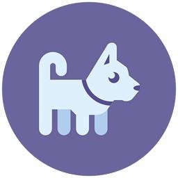 Hund Lila Icon