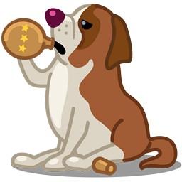 Hund Bernhardiner
