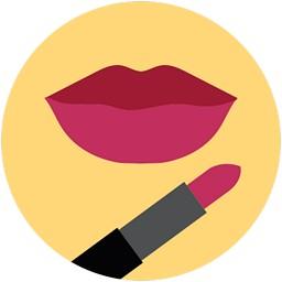 Lèvres à rouge à lèvres