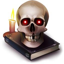 Horror Red Eyed Skull