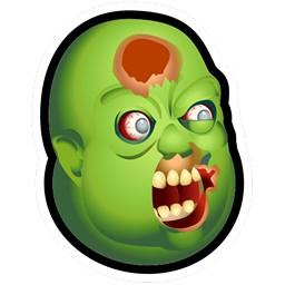 Horror Zombie Monster Aufgeblasen
