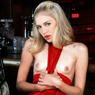 Hot Blonde Madison Topless At The Bar