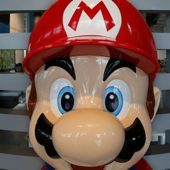 Mario at Ninetendo Showroom Tokyo
