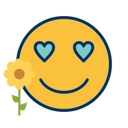 Smiley und Rose