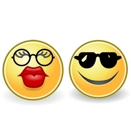 Smiley Couple With Glasses