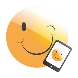 Smiley auf dem Handy