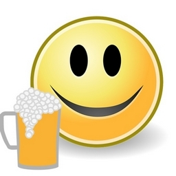 Smileys mit einem Bier