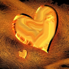 Abstrakte Liebe Herz