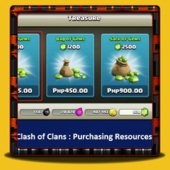 Clash of Clans - Purchasing Resources