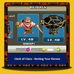 Clash of Clans - Repos Vos héros