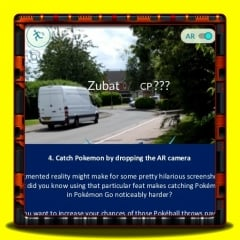 Pokemon Go - Catch Pokemon by dropping the AR camera