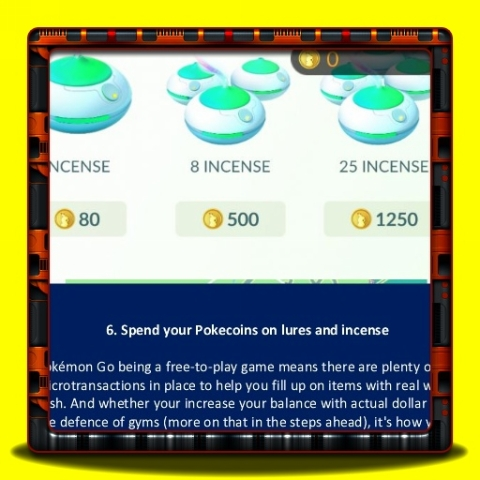 Pokemon Go - Spend your Pokecoins on lures and incense