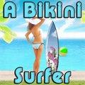 Eine Bikini Surferin
