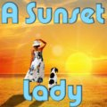 Una signora al tramonto