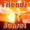 Freunde Im Sonnenuntergang