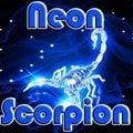 Scorpione al neon